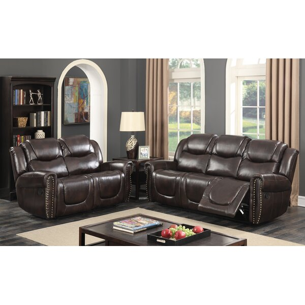 Polly Reclining 2 Pieces Living Room Set by Red Barrel Studio