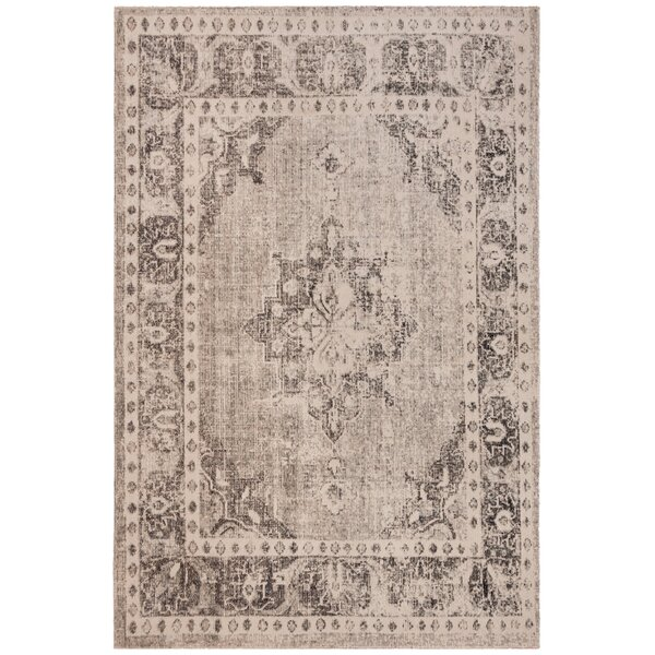 Griffeth Gray/Ivory Indoor/Outdoor Area Rug by Bungalow Rose