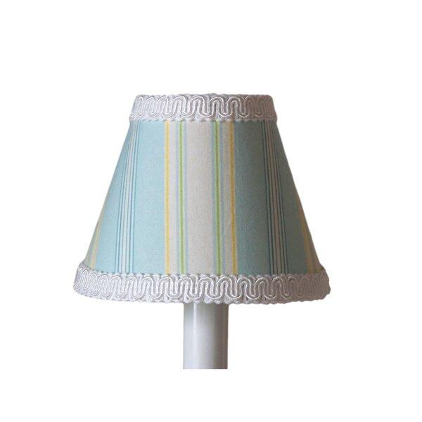 Seascape 4 H Fabric Empire Candelabra shade ( Clip on ) in Blue/White
