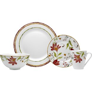 Italian Cypress 16 Piece Dinnerware Set Service for 4  sc 1 st  Wayfair & Italian Style Dinnerware | Wayfair