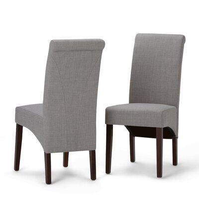 Agnon Deluxe Upholstered Dining Chair Color: Dove Gray by Alcott Hill