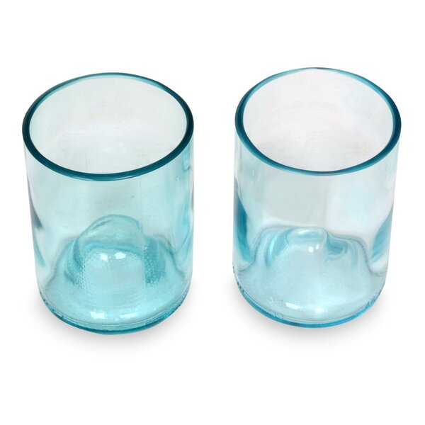 Hand-Crafted Recycled 9 Oz. Water Glass (Set of 2) by Novica