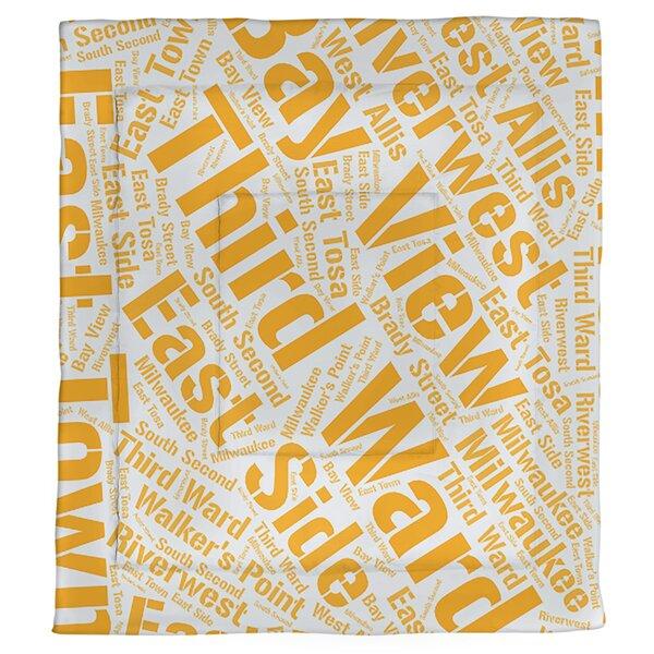 Milwaukee, Wisconsin Single Reversible Comforter