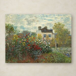 The Artist's Garden In Argenteuil by Claude Monet Painting Print on Wrapped Canvas by Trademark Fine Art