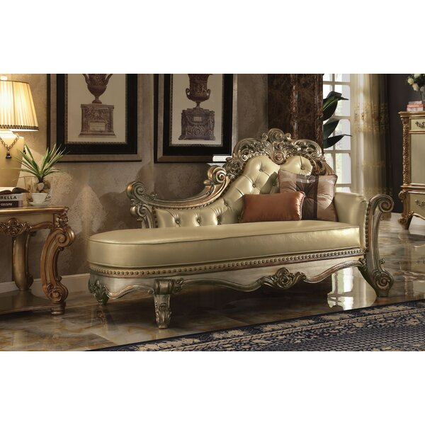 Holte Wooden Chaise Lounge by Astoria Grand