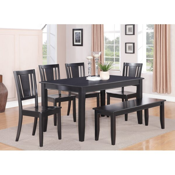 Parfait 6 Piece Solid Wood Dining Table by Wooden Importers