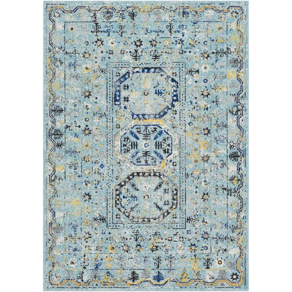 Arteaga Traditional Vintage Light Blue Area Rug by Bungalow Rose