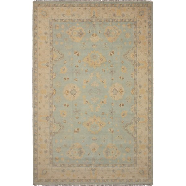 One-of-a-Kind Donofrio Hand-Knotted Wool Light Blue Area Rug by Isabelline
