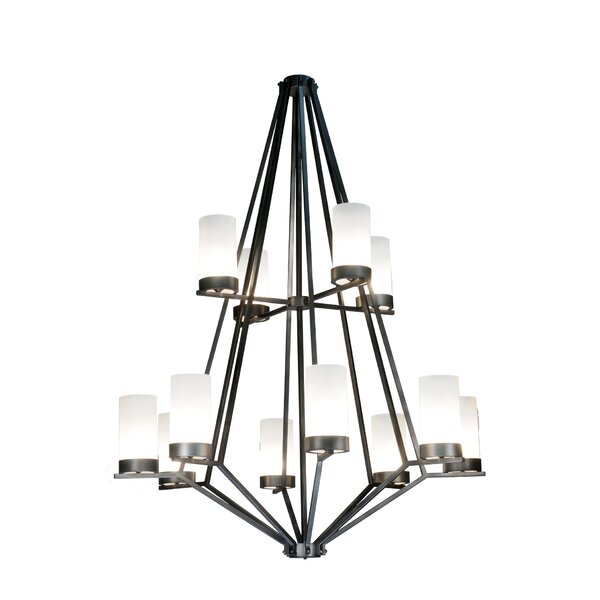 Salpeter 12 - Light Shaded Empire Chandelier by Red Barrel Studio Red Barrel Studio