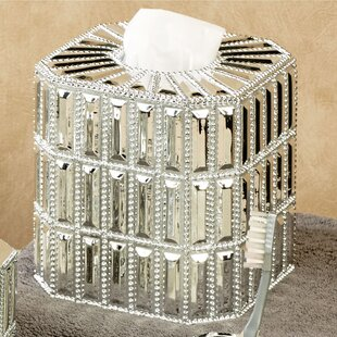 Guide to buy Glitz Boutique Tissue Box Cover ByNU Steel