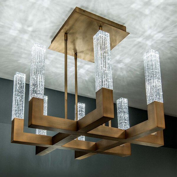 Cinema 8-Light LED Novelty Chandelier by Modern Forms