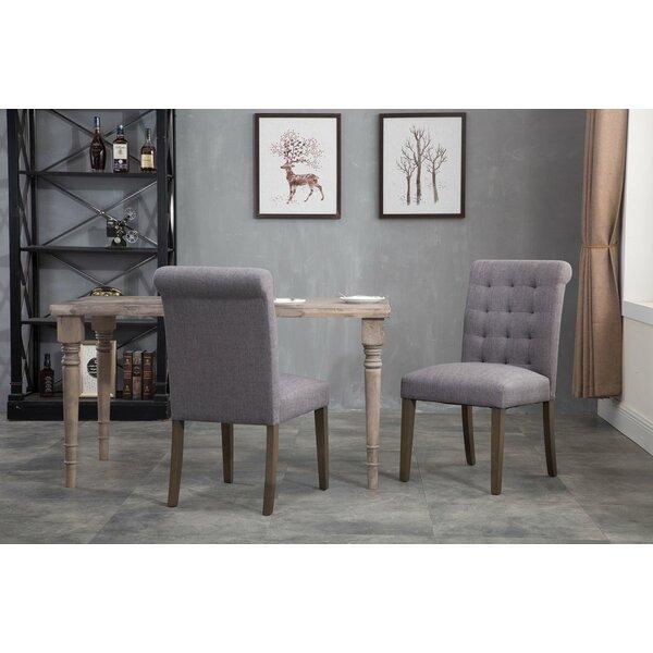 Jaclynn Tufted Velvet Upholstered Metal Side Chair in Gray (Set of 2) by Gracie Oaks Gracie Oaks