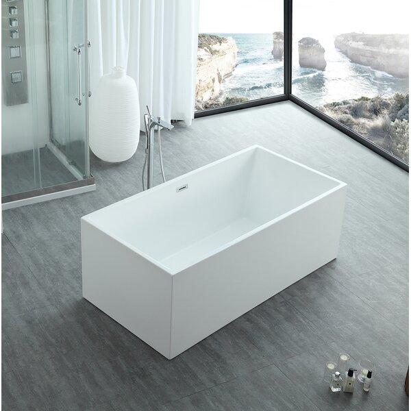 Aphrodite 67 x 30 Freestanding Soaking Bathtub by Eisen Home