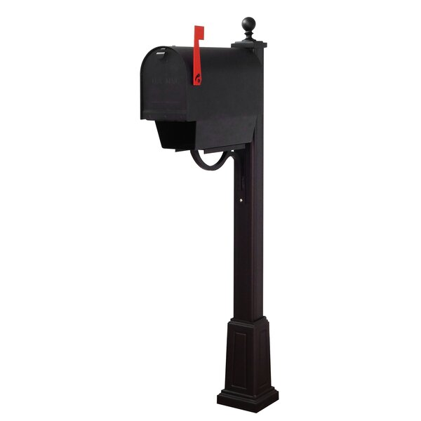 Titan Steel Curbside Mailbox with Main Street Post Included with Base by Special Lite Products