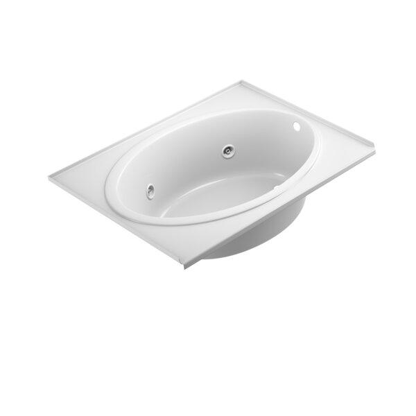 Nova Tile-Flange Right-Hand 60 x 42 Drop in Whirlpool Bathtub by Jacuzzi®