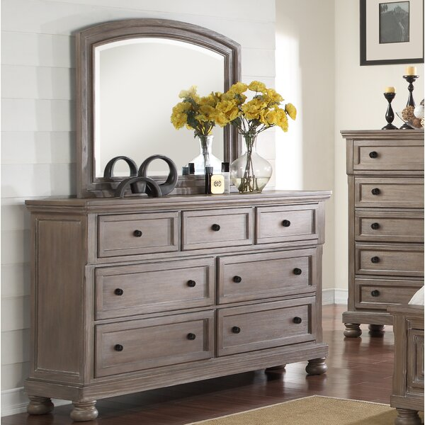 Van Buren 7 Drawer Dresser with Mirror by Greyleigh