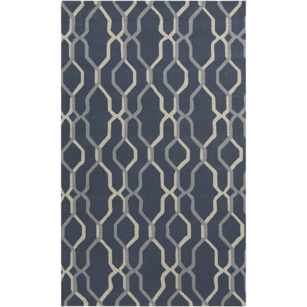 Kinde Teal Outdoor Rug by Wrought Studio