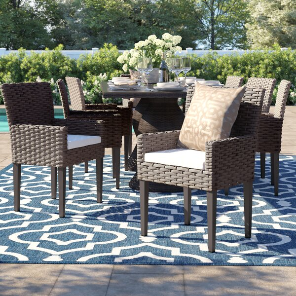 Rockport Patio Dining Chair with Cushion (Set of 8) by Sol 72 Outdoor Sol 72 Outdoor