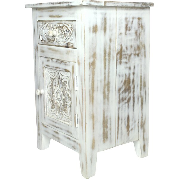Cockburn Hand Carved End Table by Bungalow Rose