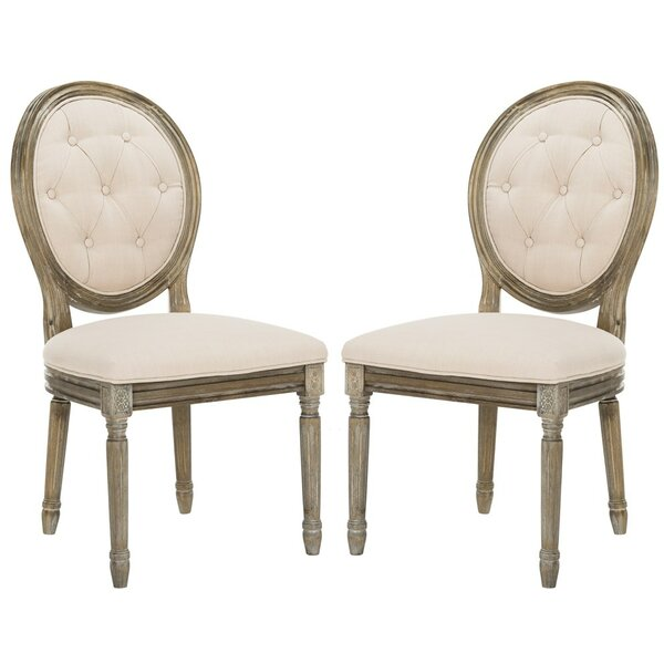 Lakeshore Upholstered Dining Chair (Set of 2) by One Allium Way