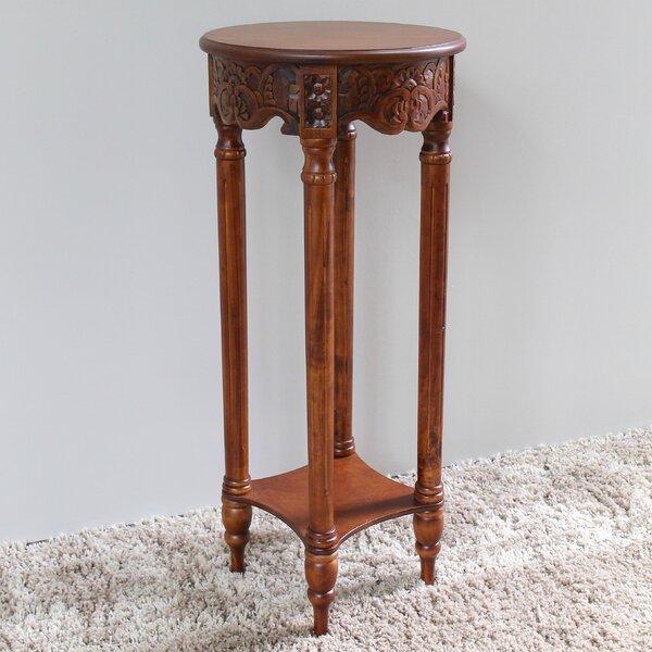 Windsor Hand Carved 2-Tier End Table by International Caravan
