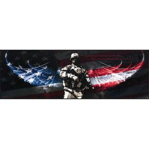 'Solider with American Wings' by Jason Bullard Graphic Art Plaque by Dicksons Inc