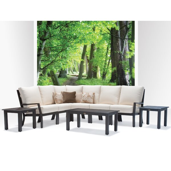 Verona 8 Piece Sunbrella Sectional Set with Cushions by Meadow Decor