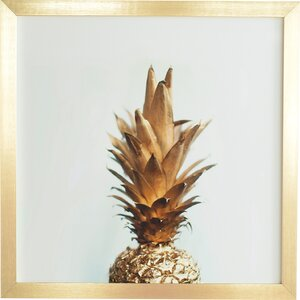 The Gold Pineapple Framed Photographic Print by Mercury Row