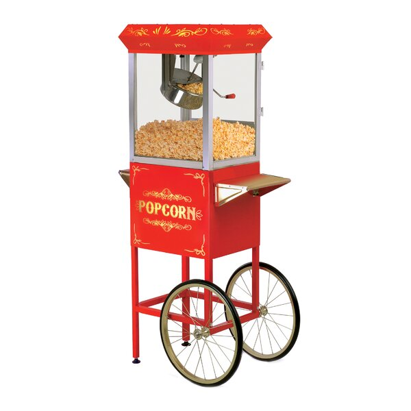8 oz. Deluxe Kettle Old Fashioned Popcorn Trolley by Elite by Maxi-Matic