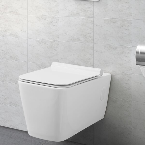 Concorde® Dual Flush Square Wall Hung Toilet by Swiss Madison