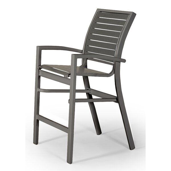 Kendall Contract Strap Stacking Patio Bar Stool by Telescope Casual