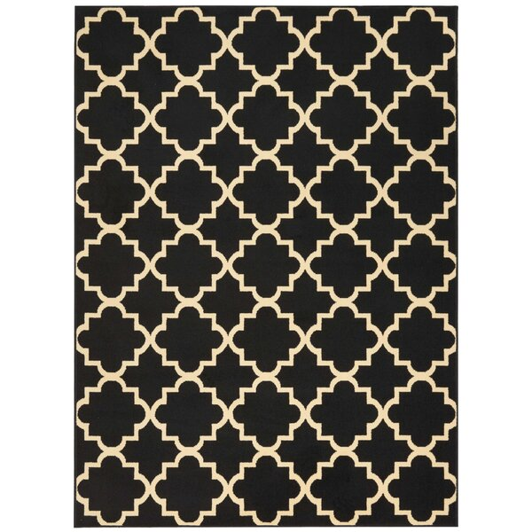 Longmont Trellis Black Indoor Area Rug by Laurel Foundry Modern Farmhouse