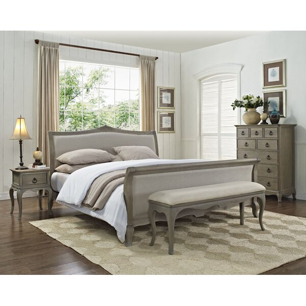 Amira Queen Sleigh 5 Piece Bedroom Set by One Allium Way