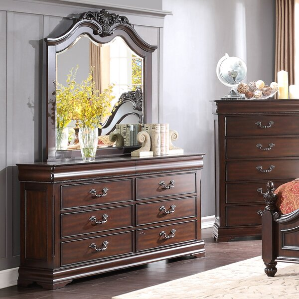 Boltongate 6 Drawer Double Dresser with Mirror by Astoria Grand