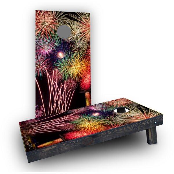 Fireworks Cornhole Boards (Set of 2) by Custom Cornhole Boards