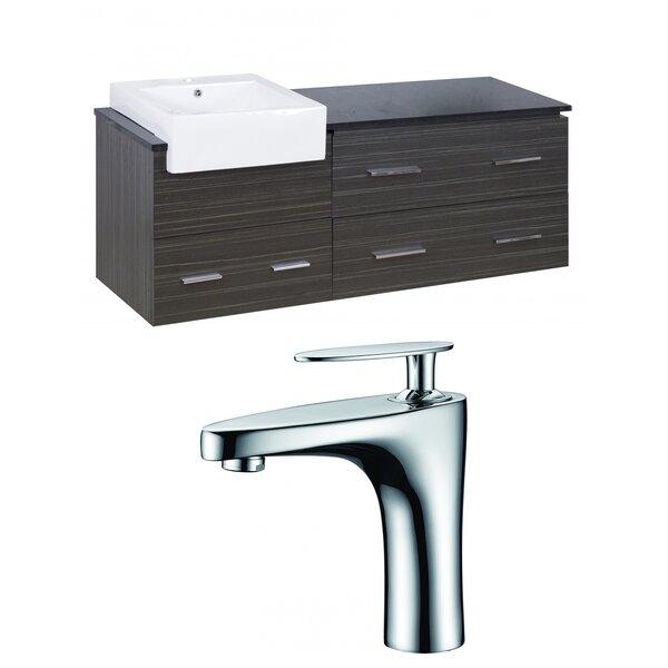 Hindman 61 Wall-Mounted Single Bathroom Vanity Set by Royal Purple Bath Kitchen