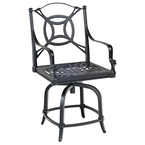 Isla Swivel Counter Patio Bar Stool by Woodard