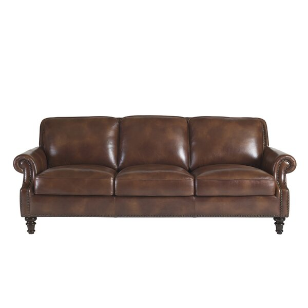 Franciscan Leather Sofa by Canora Grey