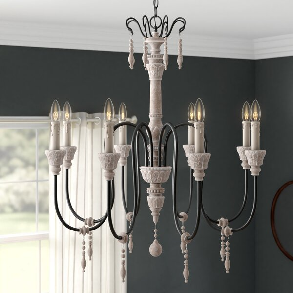 Ailsa 8-Light Candle Style Classic / Traditional Chandelier by Ophelia & Co. Ophelia & Co.