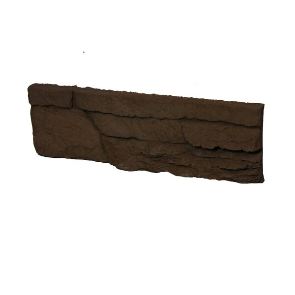 Odyssee Engineered Stone Subway Tile in Brown (Set of 8) by Stone Design