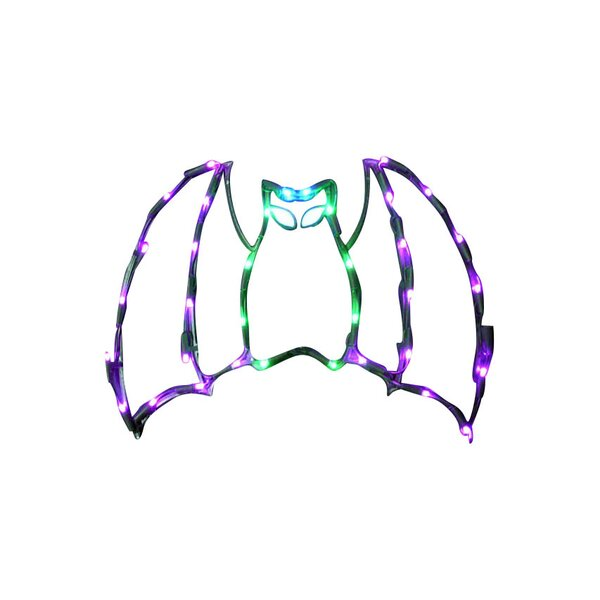 18 Halloween Bat with 35 Multicolored Lights (Set of 2) by Queens of Christmas