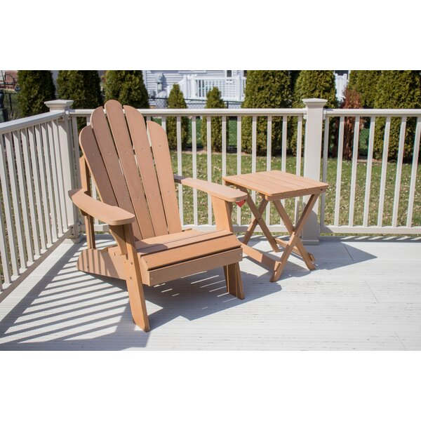 Esposito Ironwood Adirondack Chair by Rosecliff Heights
