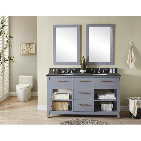 Greenwald 61 Double Bathroom Vanity Set by Wrought Studio