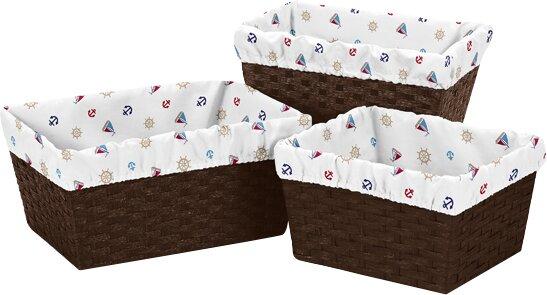 Nautical 3 Piece Basket Liner Set by Sweet Jojo Designs