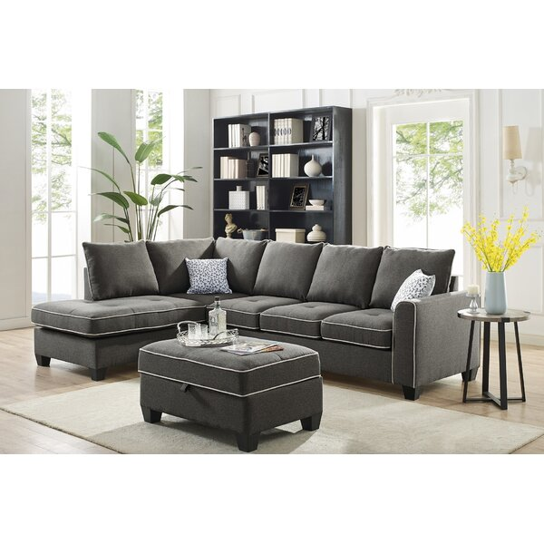 Mercurio Reversible Sectional with Ottoman by Latitude Run