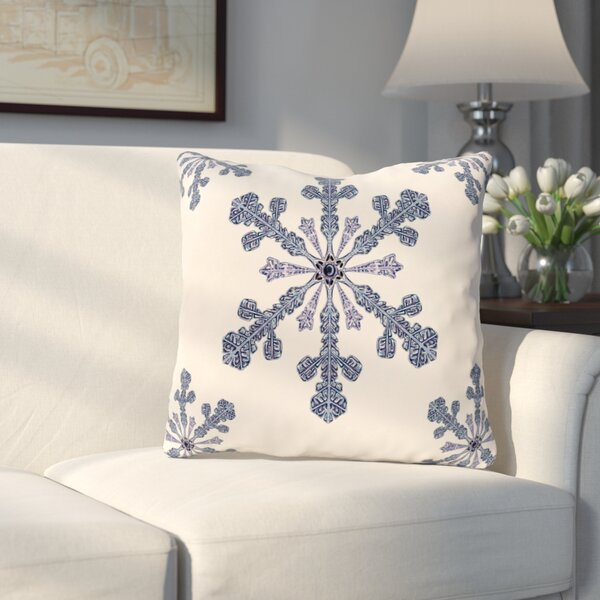 Hume Holiday Print Throw Pillow by Three Posts