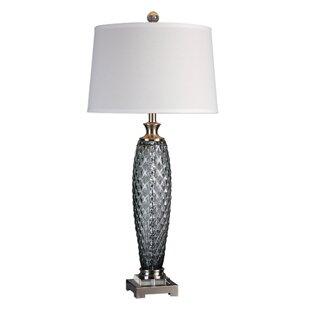 Reviews Gus Glass 36 Buffet Lamp By Highland Dunes