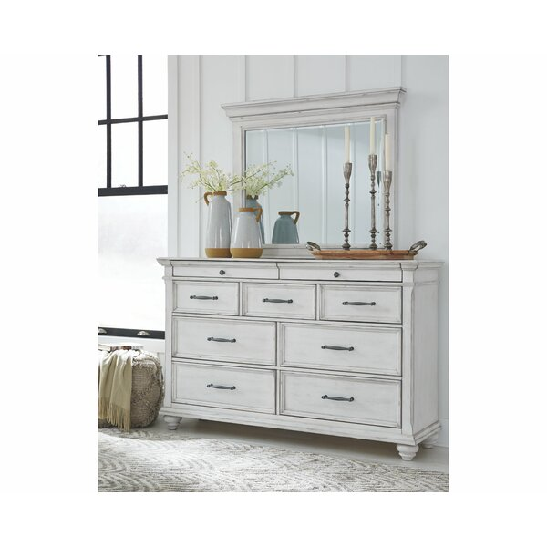 Conard 7 Drawer Double Dresser with Mirror by Ophelia & Co.