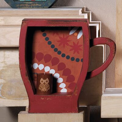 Distressed Coffee Cup Shelf by Zingz & Thingz