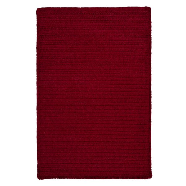 Solid Chenille Sangria Area Rug by Colonial Mills